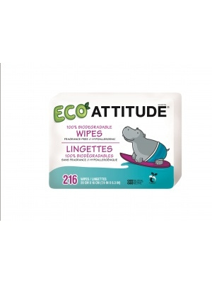 Attitude Baby Wipes100% Biodegradable Refill