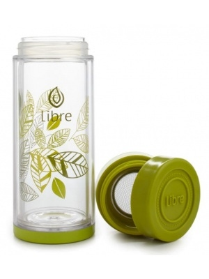 Libre Infusers Lively Leaves Glass Infuser