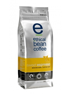 Ethical Bean Coffee Sweet Espresso (Whole Bean) 6 Pack