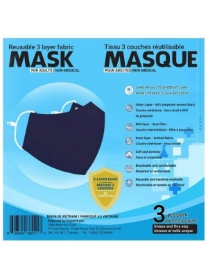 Sequence Health Ltd. Antibacterial Mask for Adults Blue